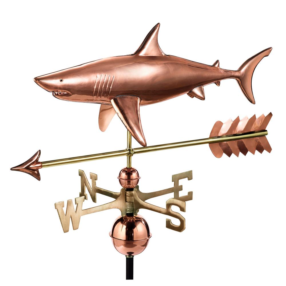 Shark with Arrow Weathervane-Pure Copper