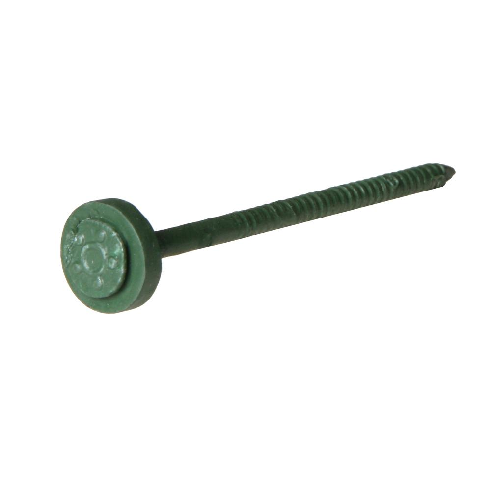 4 in. Forest Green Fastener With Washer (60-Piece per Box)