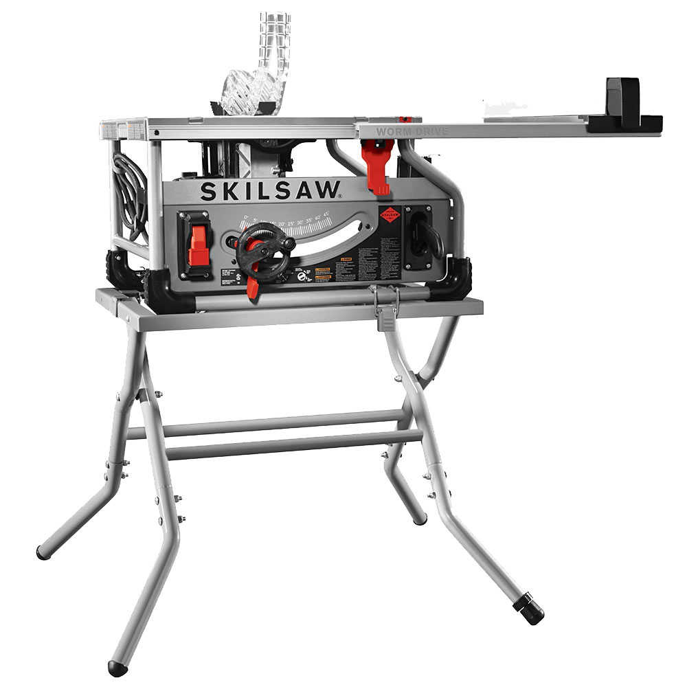 Skil SPT70WT-22 10' Worm Drive Table Saw w/ Diablo Blade and Stand
